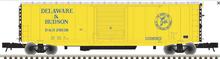 Atlas O D&H (yellow scheme)  50' PS-1 single door door box car, 3 rail or 2 rail