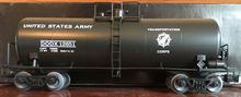 Weaver US Army 40' tank car, 3 rail or 2 rail