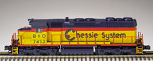 Atlas O Chessie/B&O  SD-35,  3 rail, TMCC