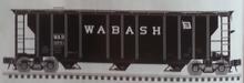 Atlas O Wabash 40' 3 Bay PS-2 Covered Hopper, 3 rail or 2 rail
