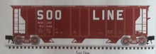 Atlas O SOO LINE 40' 3 Bay PS-2 Covered Hopper, 3 rail or 2 rail