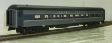 Golden Gate Depot UP (2 tone gray) modernized heavyweight passenger coach, set of 4 cars, 2 rail