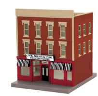 MTH 30-90350 O gauge Cook, Books & Hyde Tax Accountants 3-story building