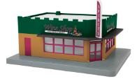 MTH 30-90450 O gauge Wine Shop Single Story Opposite Corner Store