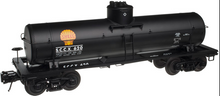 Atlas O Shell Chemical  (black) 8000 gal tank car, 3 rail or 2 rail