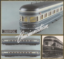 Golden Gate Depot B&O Cincinnatian smooth side 5 car passenger  set,  2 rail