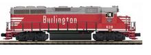 MTH Premier Burlington (CB&Q) GP-40  diesel, 3 rail, w/Sound and smoke