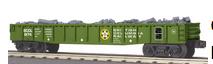 MTH Railking British Columbia gondola w simulated scrap load, 3 rail