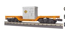 MTH Rail King B&P Depressed  Center Flat Car  w/transformer load, 3 rail