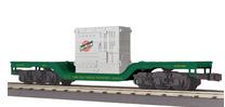 MTH Rail King CNW Depressed  Center Flat Car  w/transformer load, 3 rail