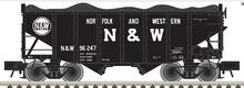 Atlas O N&W (1964 scheme)  2 Bay Fishbelly Hopper