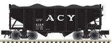 Atlas O ACY  2 Bay Fishbelly Hopper, 3 rail or 2 rail