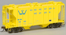 Weaver Winchester and western PS-2 covered hopper car, 3 rail or 2 rail