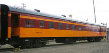 Golden Gate Depot Milwaukee Road  Dining car, 2 rail