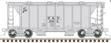 Atlas O D&H ACF 34' AC-2 Covered Hopper car, 3 rail or 2 rail