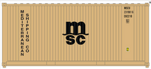 Package of 2 Atlas O  Mediterranean  Shipping 20' containers