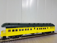 Golden Gate Depot CN&W (green/yellow) 70' harriman style  business/obs car,  2 rail