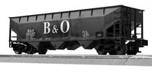 LionScale (former Weaver) B&O 3 bay offset hopper car, 3 rail