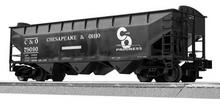 LionScale (former Weaver) C&O 3 bay offset hopper car, 3 rail