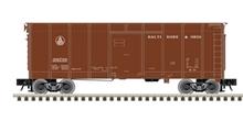Atlas O B&O (brown, small letters)  40' wagon top box  car