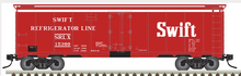 Pre-order for Atlas O Swift (red) 40' steel reefer, 3 rail or 2 rail