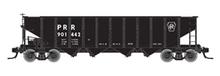 Atlas O PRR Black, 1960's scheme  H21a 4 bay hopper, 3 rail or 2 rail