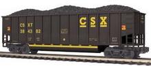 MTH Premier CSX Bathtub Gondola w/ Coal Load, 3 rail