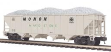 MTH Premier Monon 4-Bay Hopper w/ Coal Load, 3 rail