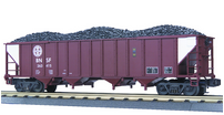 MTH Premier BNSF 4-Bay Hopper w/ Coal Load, 3 rail