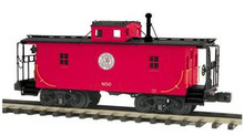 MTH Premier P&WV N6B style wood caboose, 3 rail