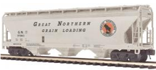 MTH Premier Great Northern 3-Bay Centerflow Covered Hopper, 3 rail