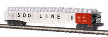 MTH Premier SOO Line Mill Gondola Car w/ Coiled Wire Load, 3 rail