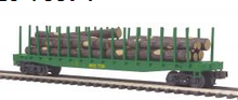 MTH Premier Maine Central Flatcar with Log Load, 3 rail