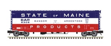 Pre-order Atlas O BAR (state of Maine)  50' PS-1 plug door box car (bunkerless reefer)