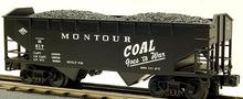 MTH Premier Montour Coal Goes to War 2-Bay Offset Hopper w/Coal Load, 3 rail LN