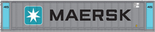 Pre-order for Atlas O  Maersk (blue/silver) 45'' container