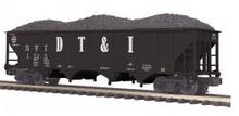 MTH Premier DT&I  4-Bay  Hopper w/Coal Load, 3 rail