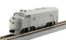 Atlas O Undecorated F-7 A Diesel 3 rail, non-powered, double headlight