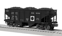 Lionel Berwind-White Coal GLa 2 bay hopper car, 3 rail