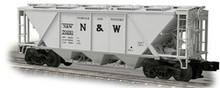 Weaver N&W H30 covered hopper car (gray), 2 rail or 3 rail