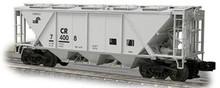 Weaver Conrail H30 covered hopper car (gray), 2 rail or 3 rail