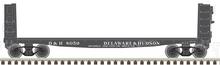 Pre-order  Atlas O D&H (black) 40' pulpwood flat car, 3 rail or 2 rail
