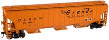 Atlas O Rio Grande PS4750  cov hopper, 3 rail or 2 rail