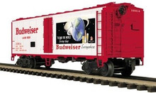 MTH Premier Budweiser 40' Steel Sided Reefer, 3 rail