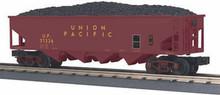 MTH Rail King Union Pacific 4-Bay Hopper w/Coal Load, 3 rail