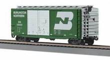 MTH Rail King Burlington Northern 40' Double Door Box Car, 3 rail