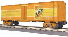 MTH Rail King Orange Blossom Amber Modern Reefer, 3 rail