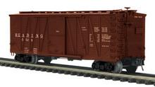 MTH Premier Reading 40' Single Sheathed (wood) Box car, 3 rail