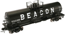 Atlas O Beacon Petrolium 11,000 gallon tank car, 3 rail or 2 rail