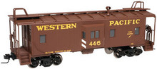 Atlas O WP (tuscan/yellow)  Bay window caboose,  3 rail or 2 rail